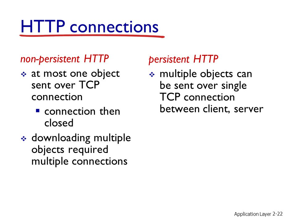 HTTP connections non-persistent HTTP persistent HTTP