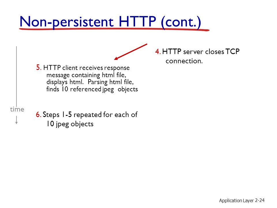Non-persistent HTTP (cont.)