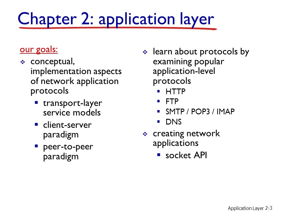 Chapter 2: application layer