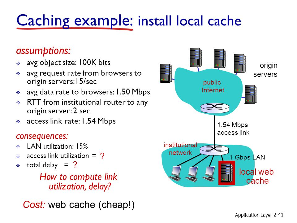 Caching example: install local cache