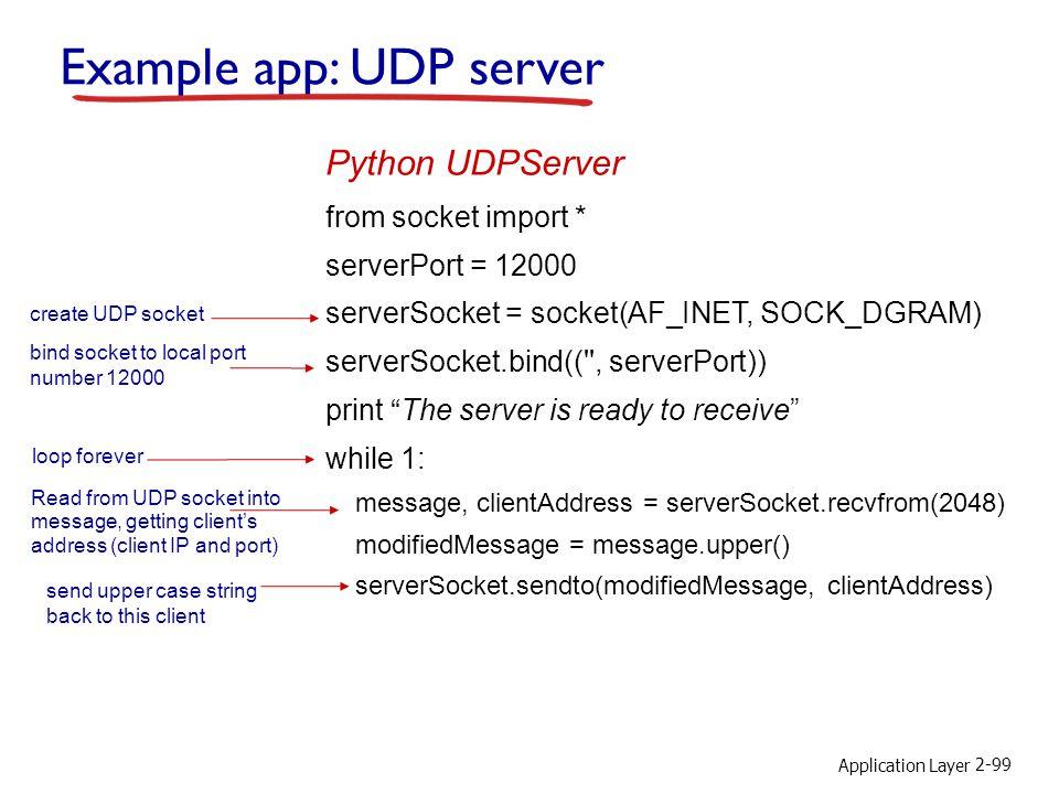 Example app: UDP server