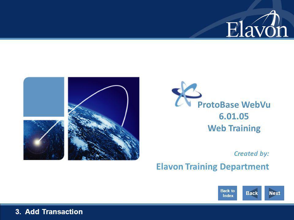 ProtoBase WebVu 6.01.05 Web Training