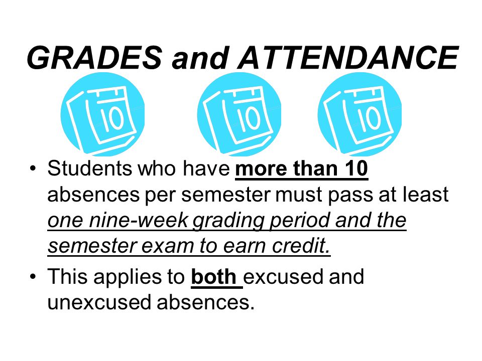 GRADES and ATTENDANCE