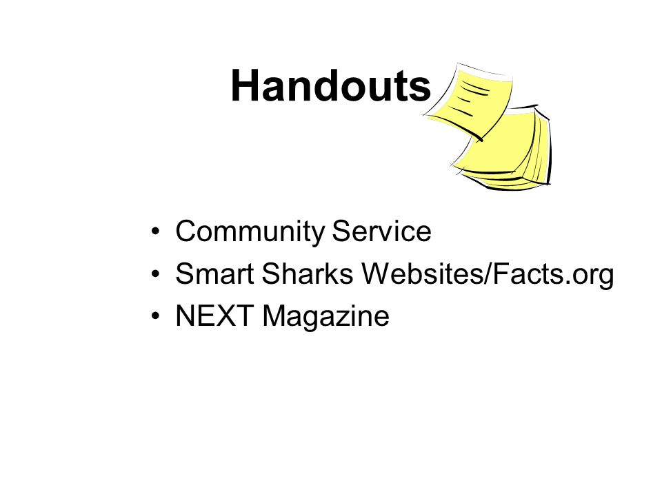 Handouts Community Service Smart Sharks Websites/Facts.org