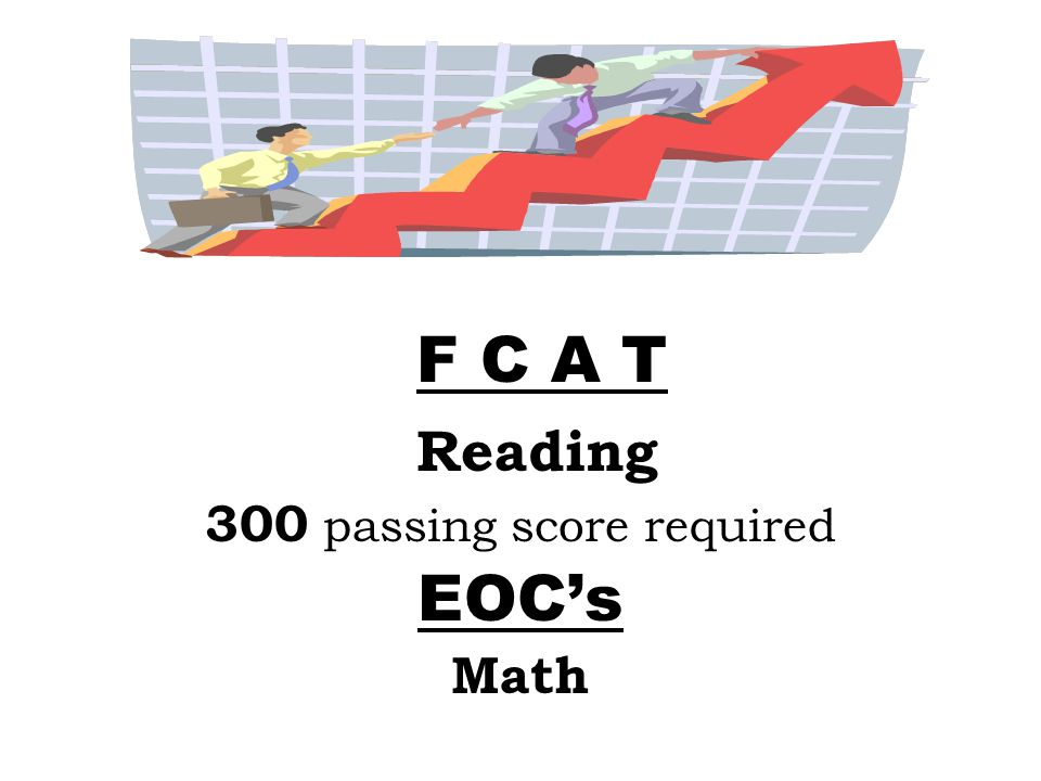 Reading 300 passing score required EOC's Math