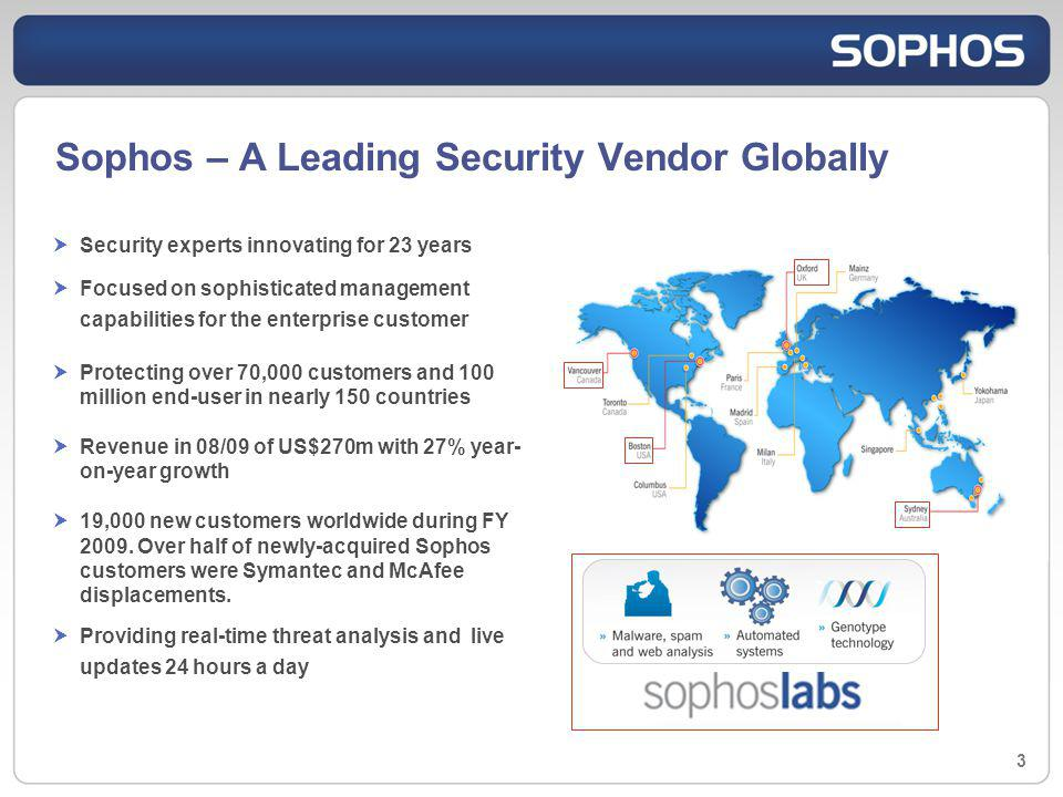 Sophos – A Leading Security Vendor Globally