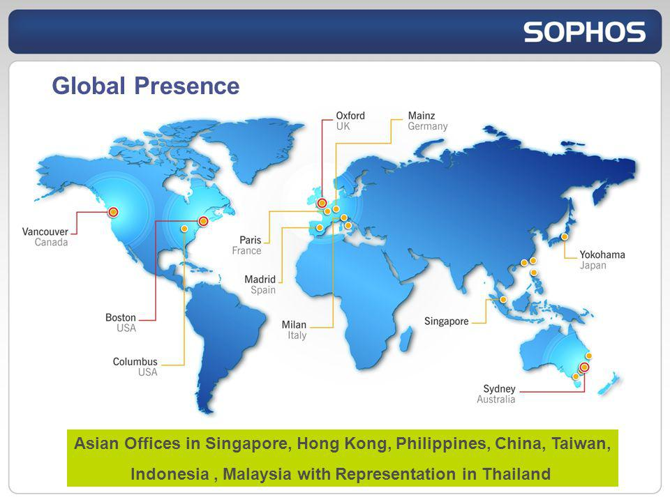 Global Presence Asian Offices in Singapore, Hong Kong, Philippines, China, Taiwan, Indonesia , Malaysia with Representation in Thailand.
