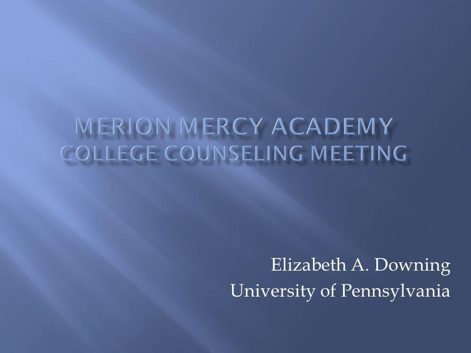 Merion Mercy Academy College Counseling meeting