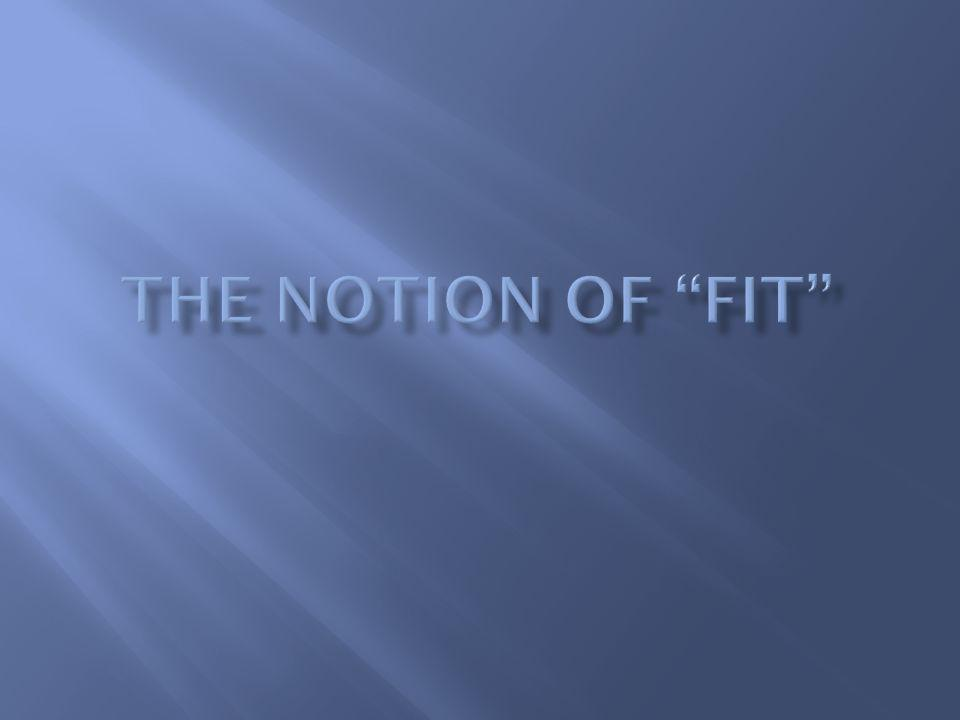 The Notion of Fit