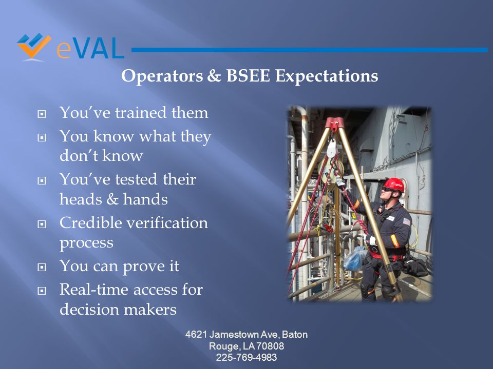 Operators & BSEE Expectations