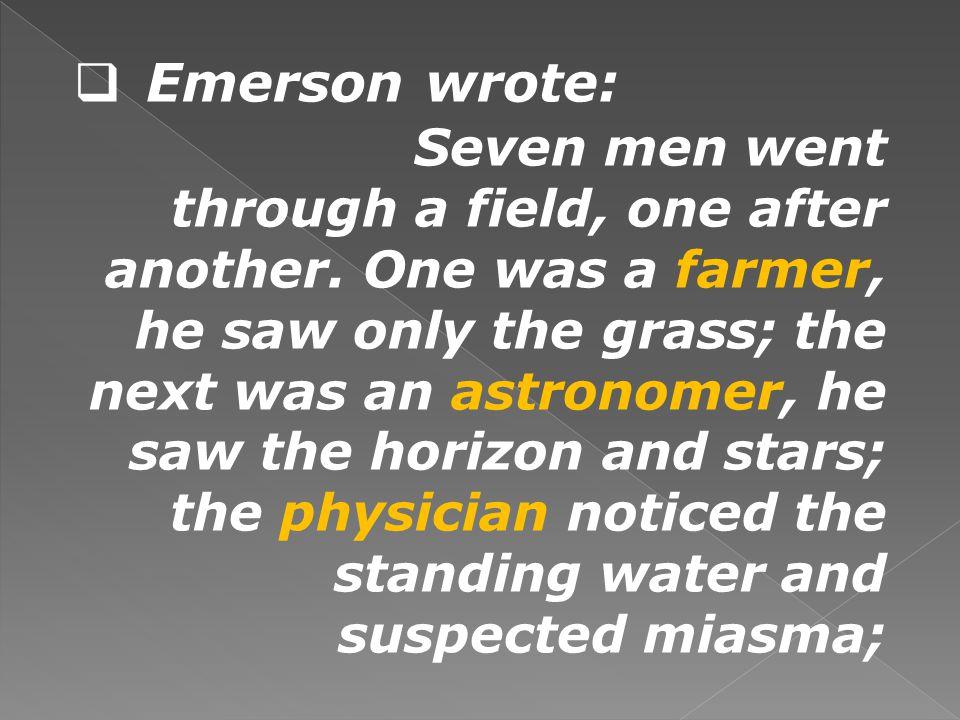 Emerson wrote: