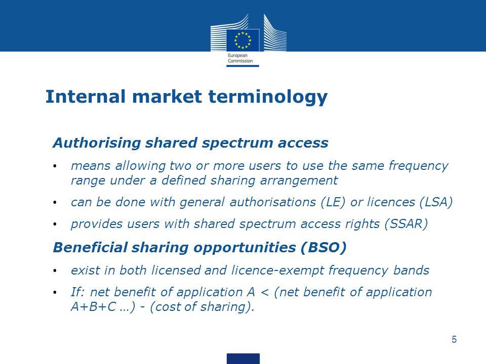 Internal market terminology
