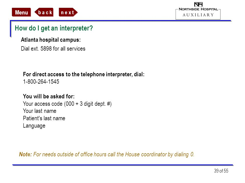 How do I get an interpreter