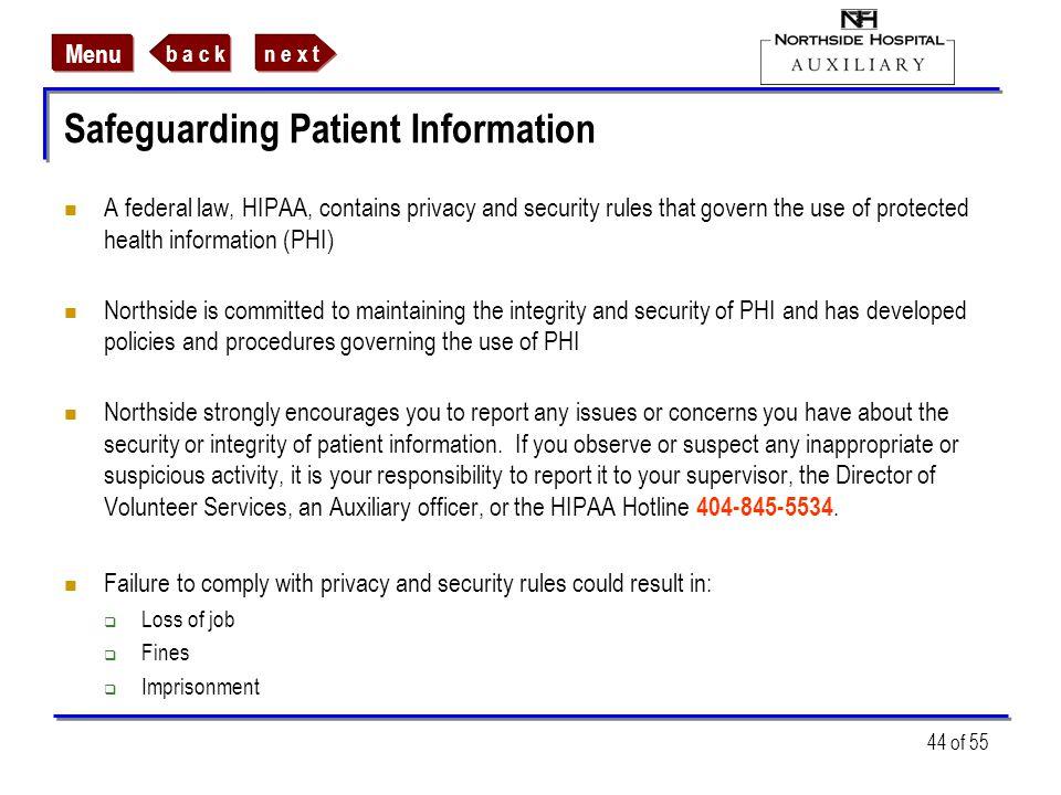 Safeguarding Patient Information