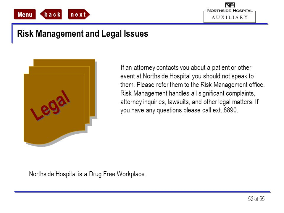 Risk Management and Legal Issues