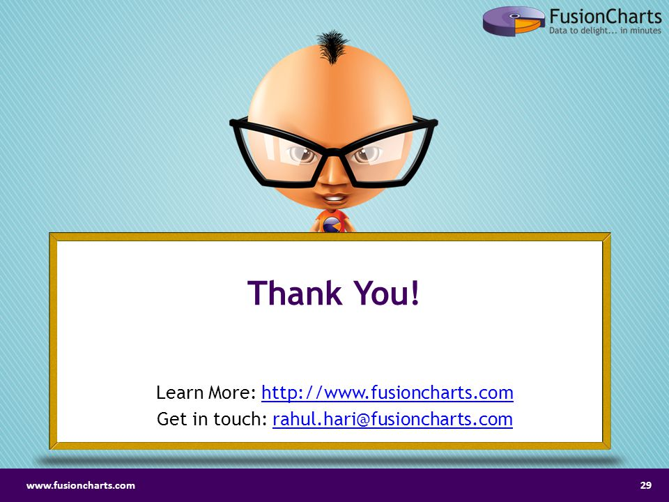 Thank You! Learn More: http://www.fusioncharts.com