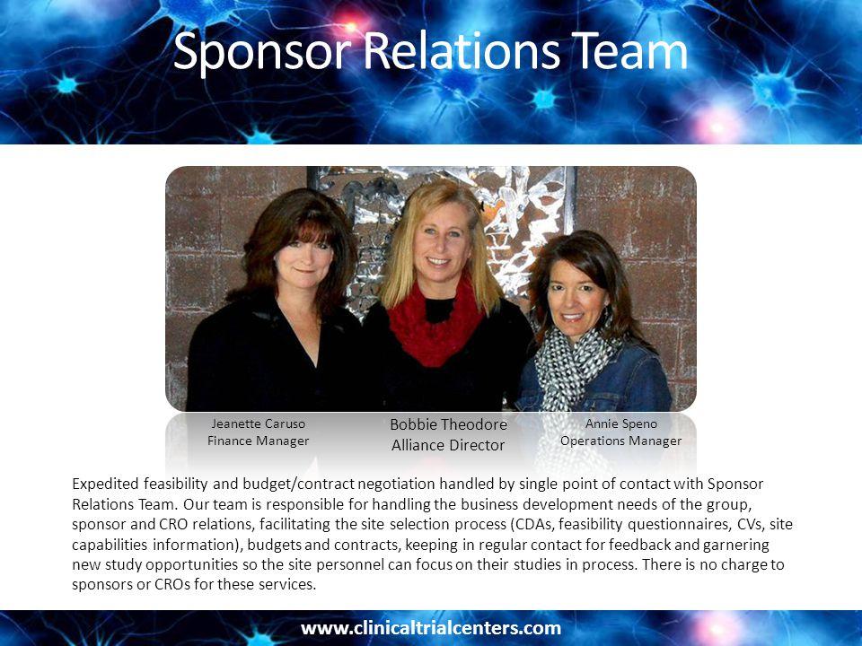Sponsor Relations Team