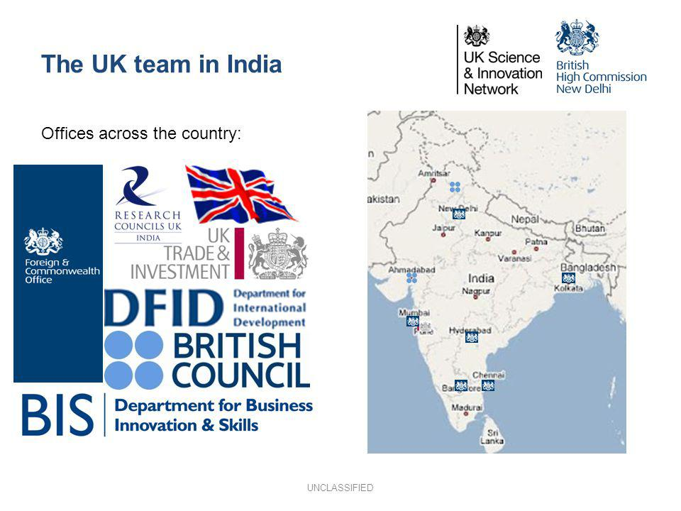 The UK team in India Offices across the country: UNCLASSIFIED