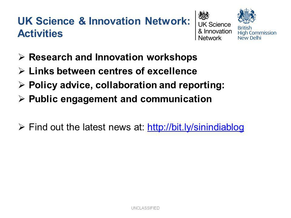 UK Science & Innovation Network: Activities