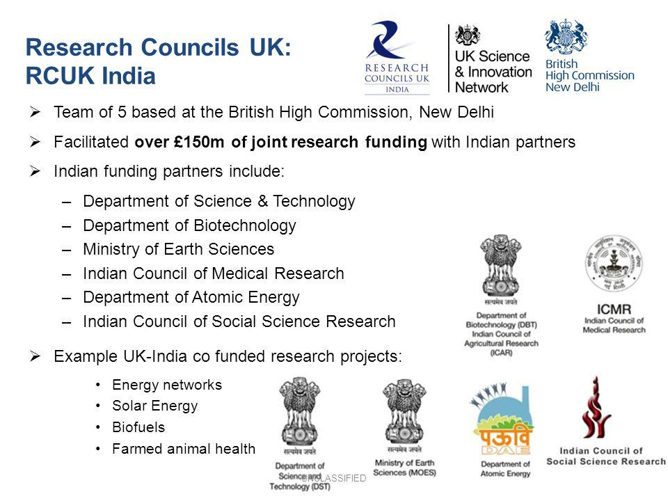 Research Councils UK: RCUK India