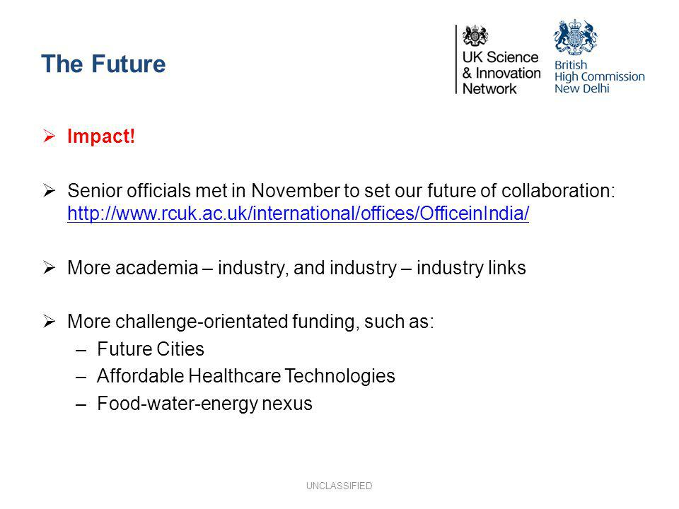 The Future Impact! Senior officials met in November to set our future of collaboration: http://www.rcuk.ac.uk/international/offices/OfficeinIndia/