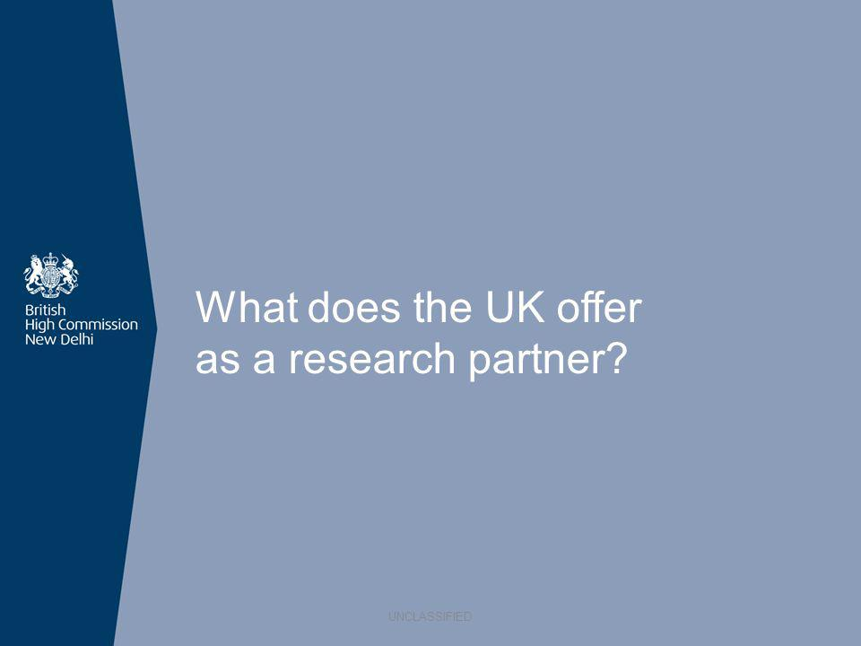 What does the UK offer as a research partner