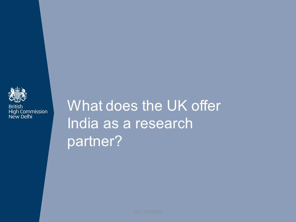 What does the UK offer India as a research partner