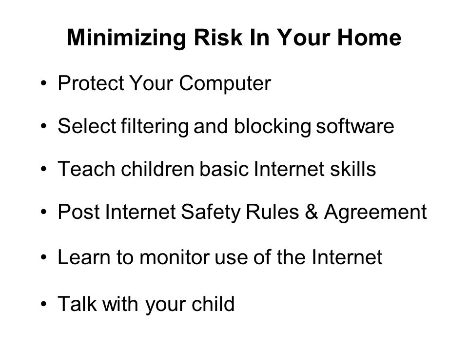 Minimizing Risk In Your Home