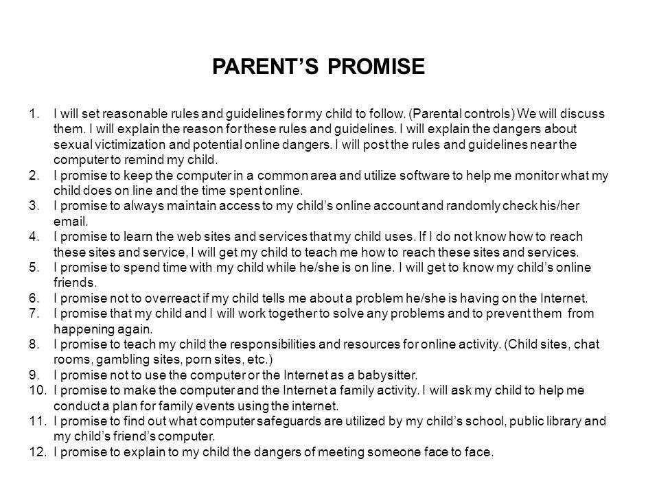 PARENT'S PROMISE