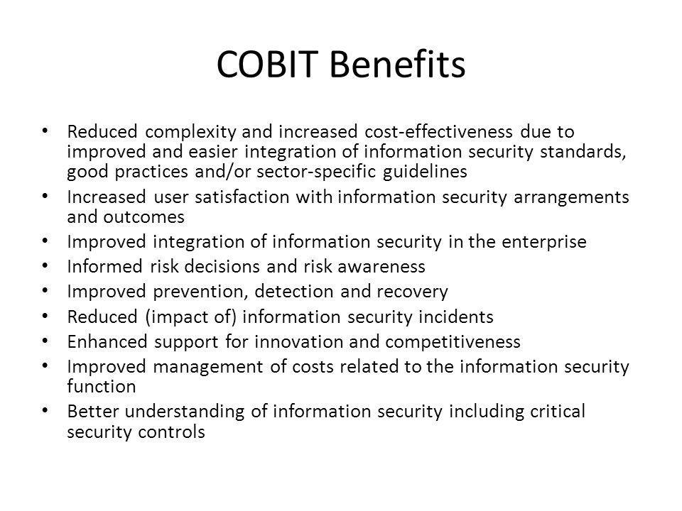 COBIT Benefits