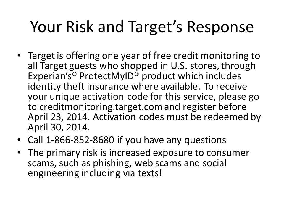 Your Risk and Target's Response