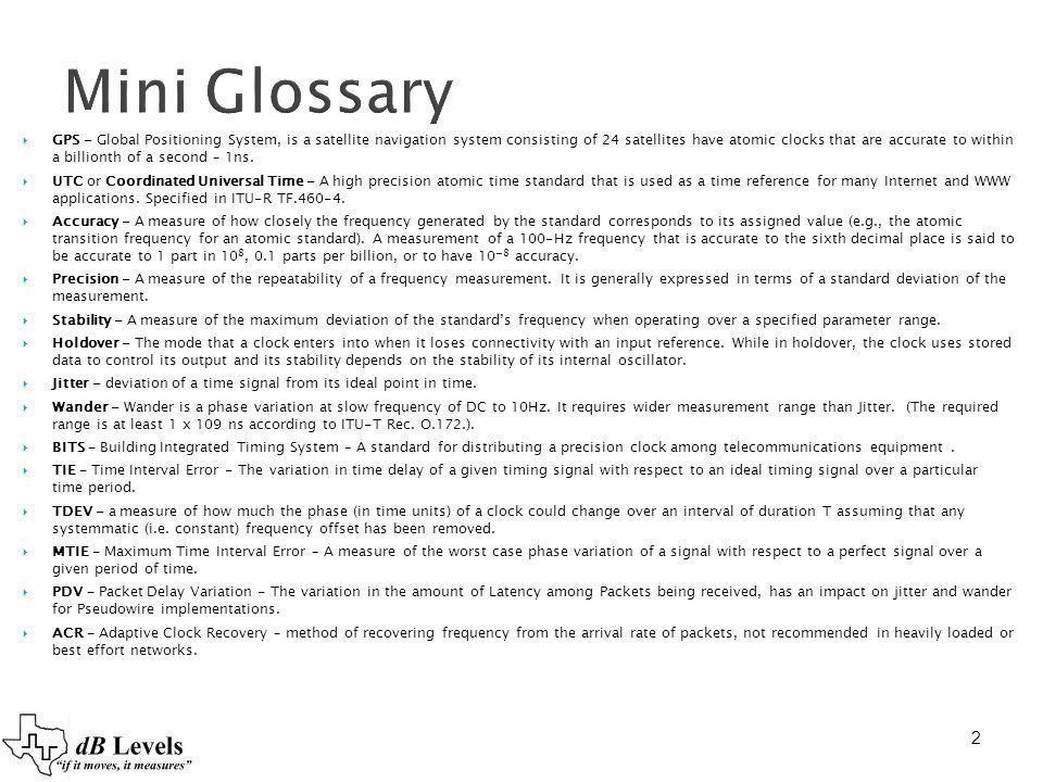 Mini Glossary