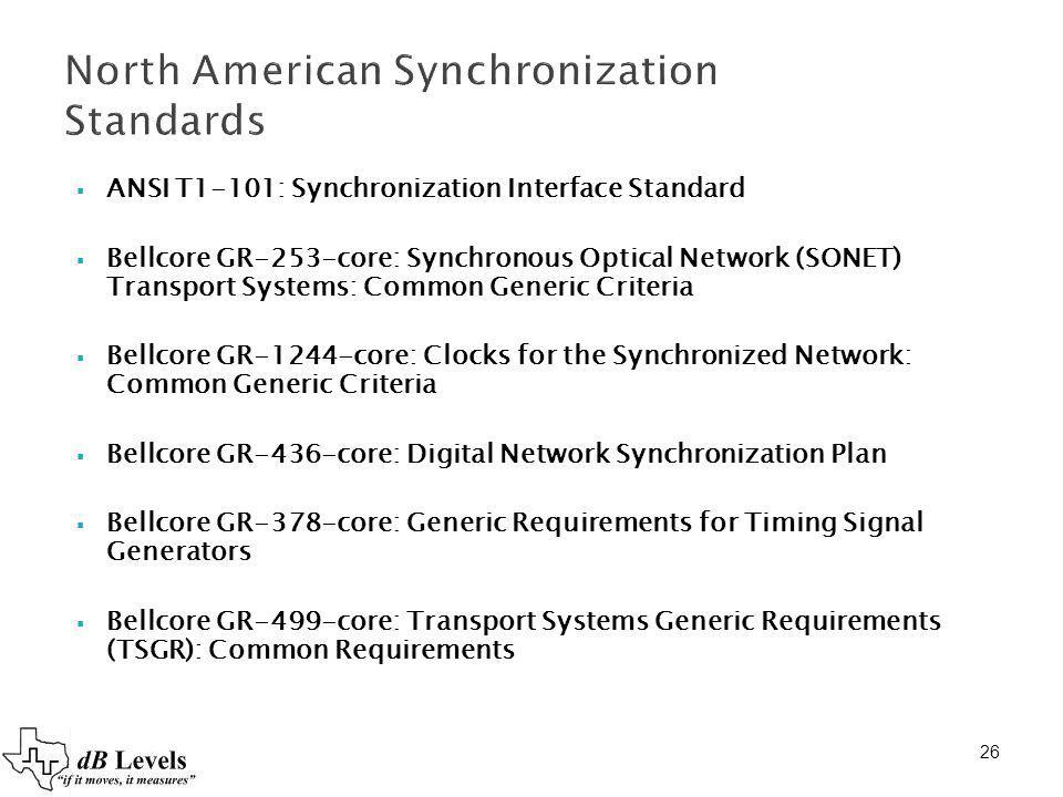 North American Synchronization Standards