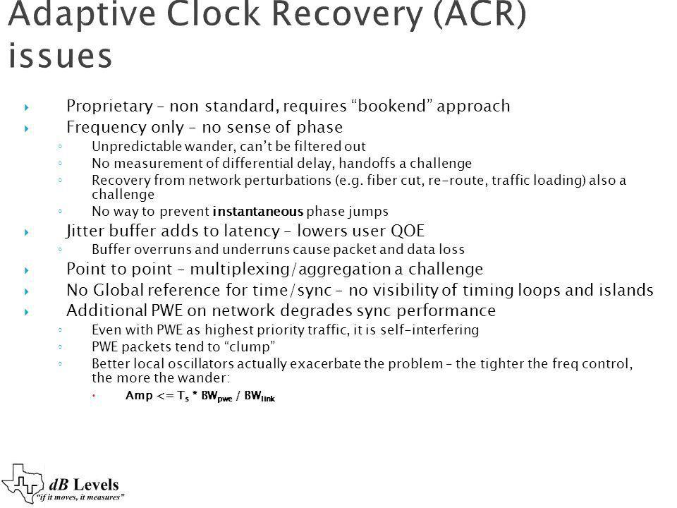 Adaptive Clock Recovery (ACR) issues