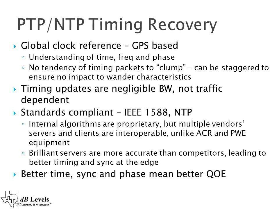 PTP/NTP Timing Recovery