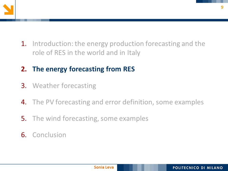 Introduction: the energy production forecasting and the role of RES in the world and in Italy