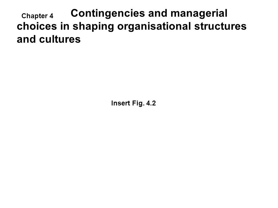 Contingencies and managerial choices in shaping organisational structures and cultures
