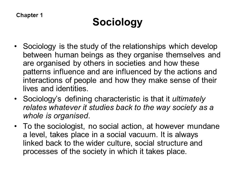 Sociology Chapter 1.