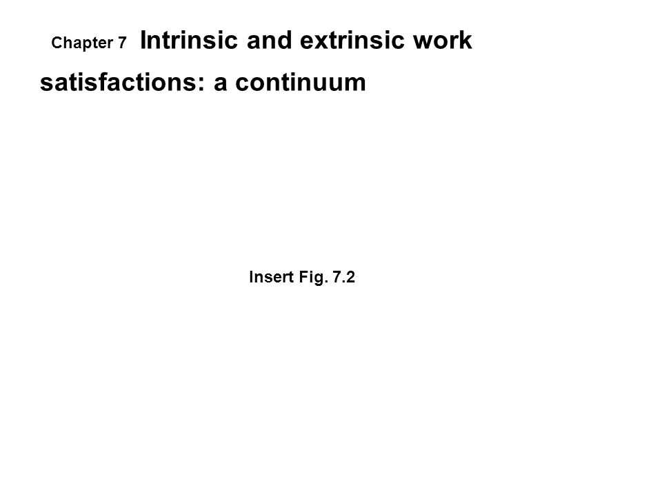 Intrinsic and extrinsic work satisfactions: a continuum