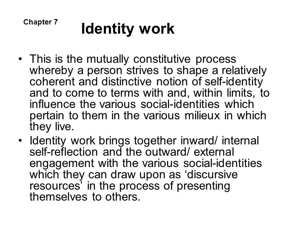 Identity work Chapter 7.