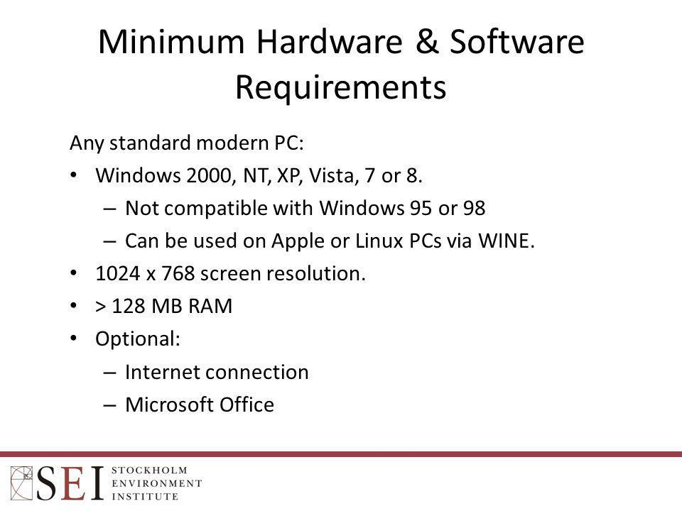 Minimum Hardware & Software Requirements