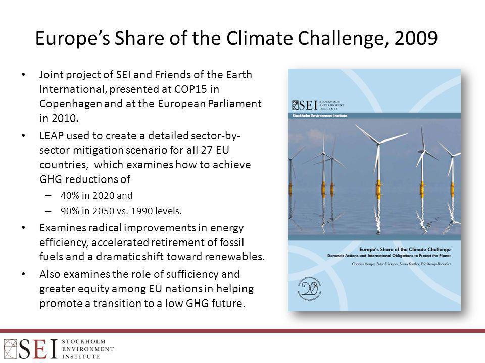 Europe's Share of the Climate Challenge, 2009