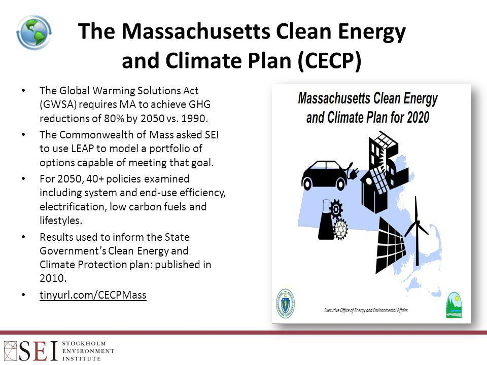 The Massachusetts Clean Energy and Climate Plan (CECP)