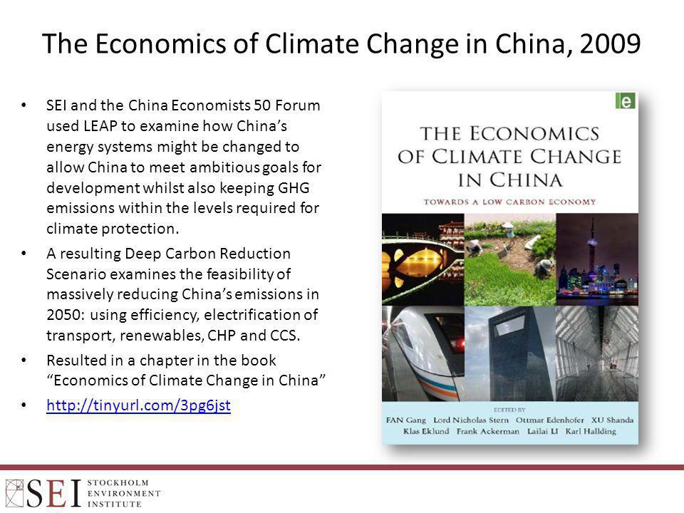 The Economics of Climate Change in China, 2009