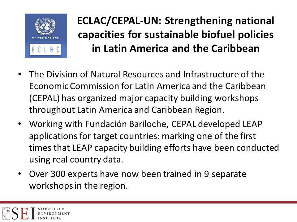 ECLAC/CEPAL-UN: Strengthening national capacities for sustainable biofuel policies in Latin America and the Caribbean