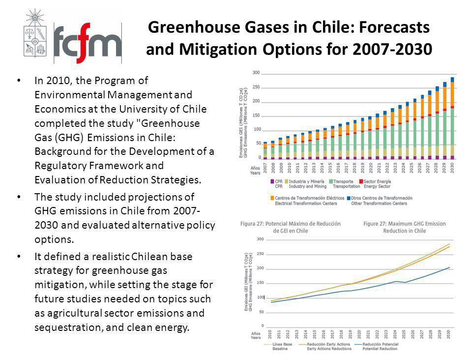 Greenhouse Gases in Chile: Forecasts and Mitigation Options for 2007-2030