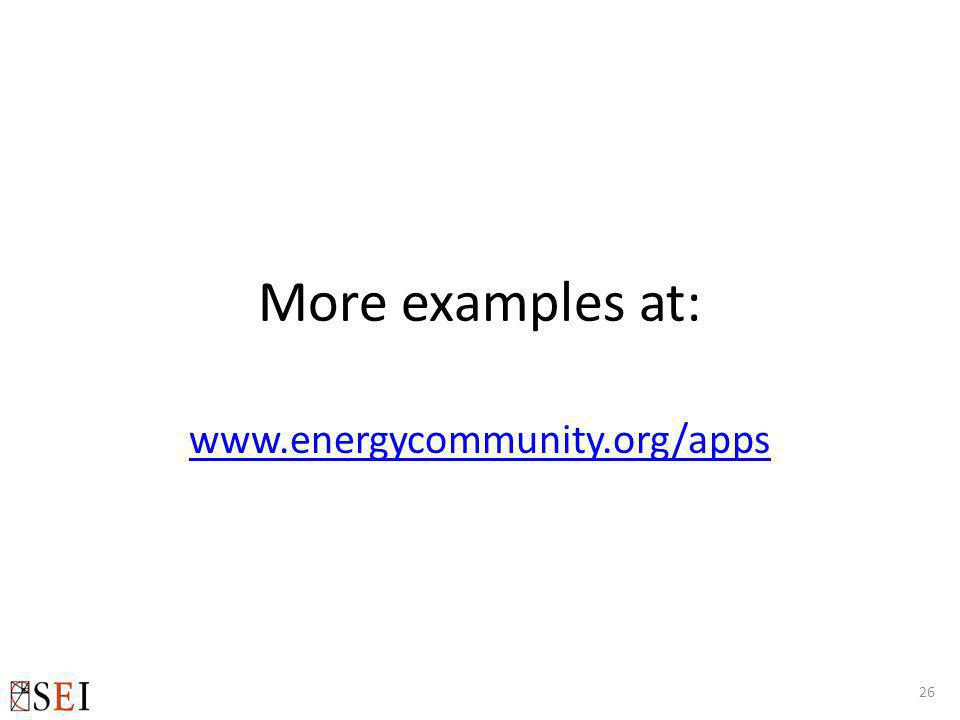 More examples at: www.energycommunity.org/apps