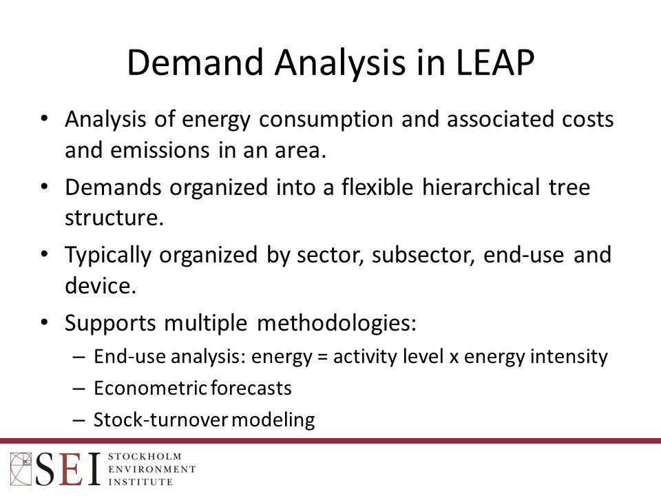 Demand Analysis in LEAP
