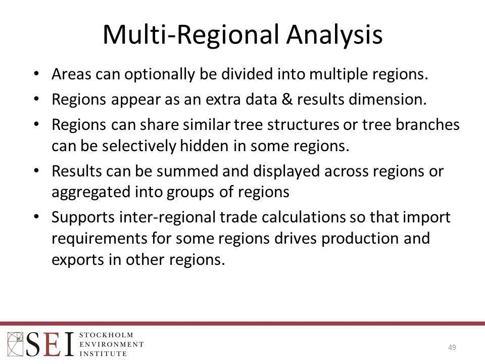 Multi-Regional Analysis