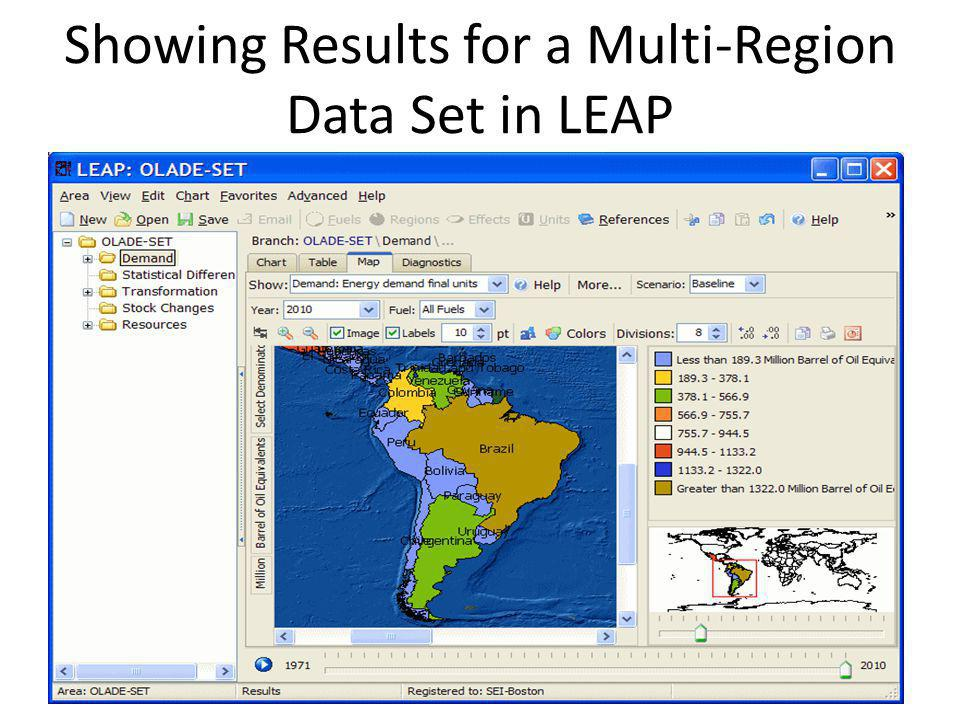 Showing Results for a Multi-Region Data Set in LEAP